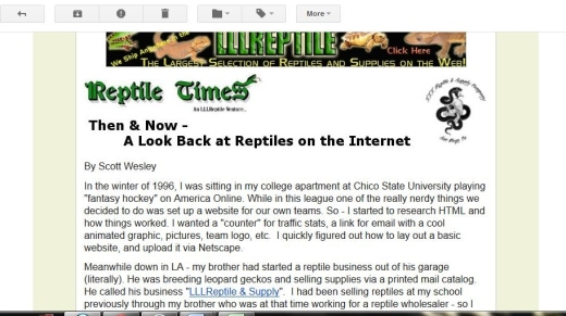 The Reptile Times in Your Inbox